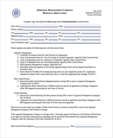 generic home appraisal form