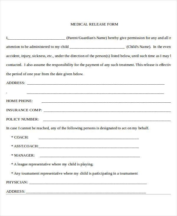 generic medical release form2