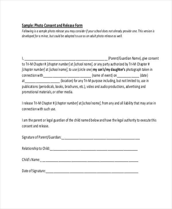Sample release form free beneficiary release form sample for Generic consent form template