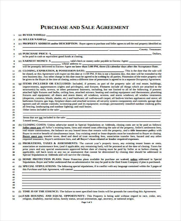 8+ Generic Purchase Agreement Form - Free Sample, Example Format