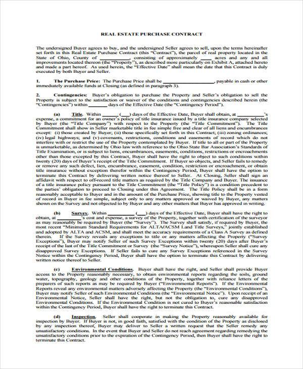10 Generic Purchase Agreement Form Samples Word Pdf