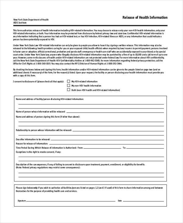 generic release form