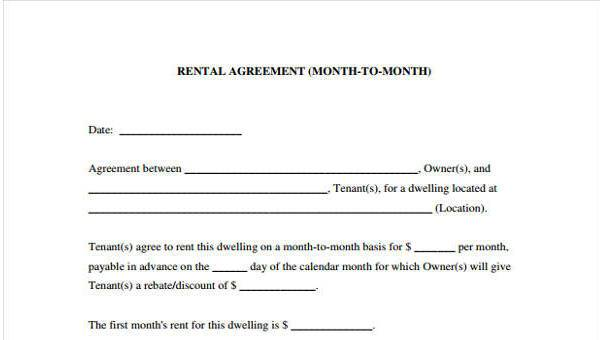 Free 7 Generic Rental Agreement Form Samples In Sample