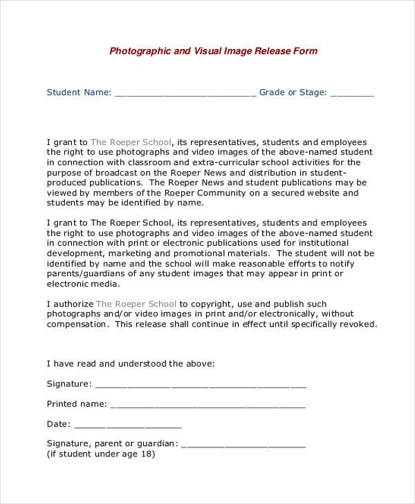 Video Release Form. Generic Video Image Release Form Generic ...