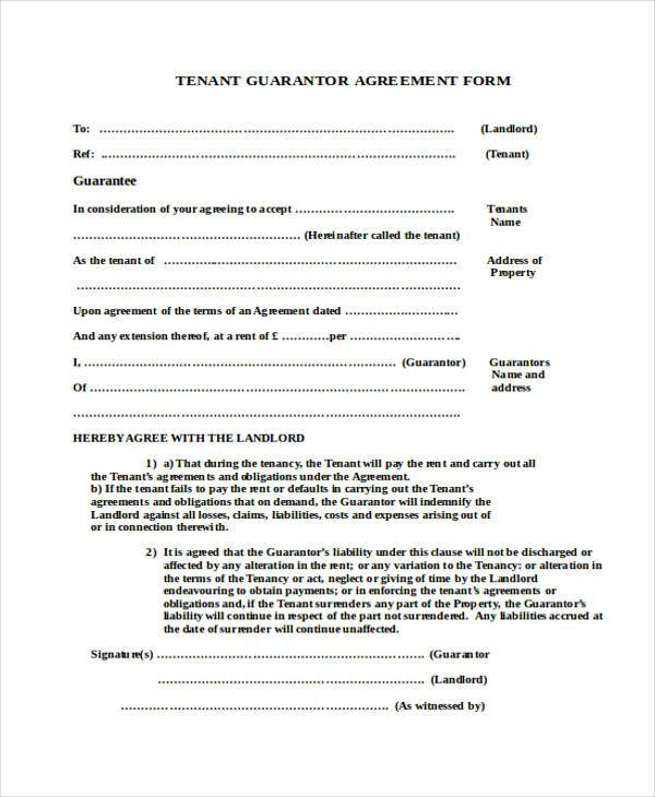 Sample Guarantor Agreement Forms - 8+ Free Documents In Word, Pdf