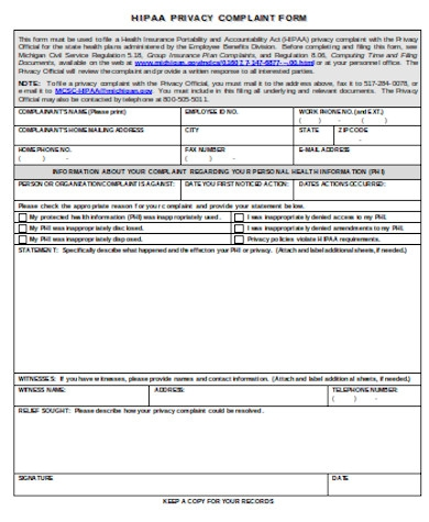 hipaa privacy complaint form1