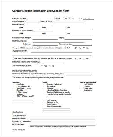 health consent form in pdf