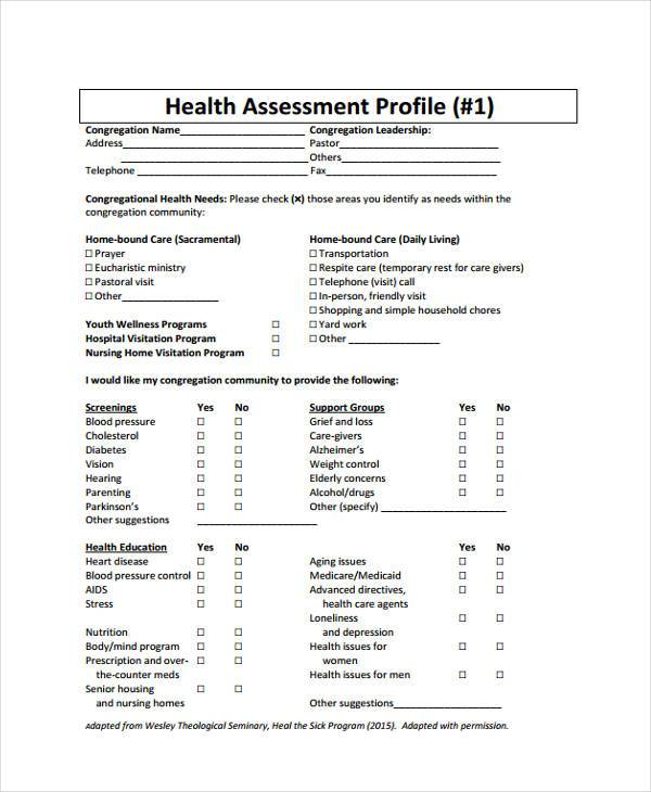 34+ Sample Assessment Forms In Pdf