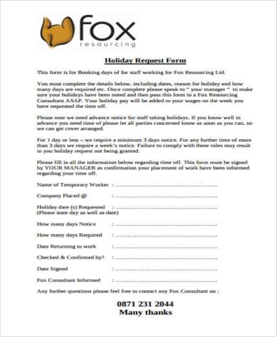 Request Form Samples  Free Sample Example Format Download