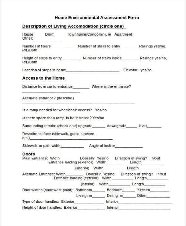 home environmental assessment form1