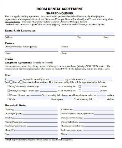 House Rental Contract Samples Free Documents In Word PDF - Housing contract template