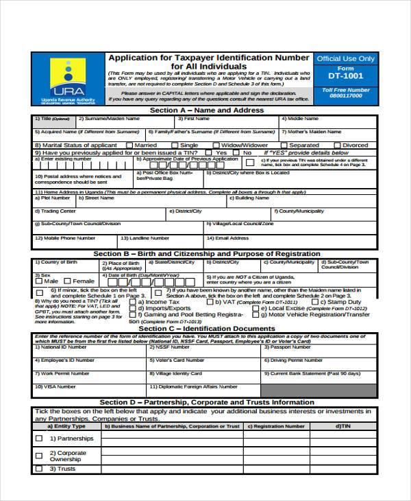 individual tin application registration form2