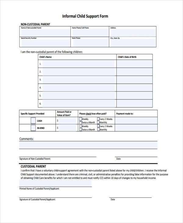7+ Child Support Agreement Form Samples - Free Sample, Example