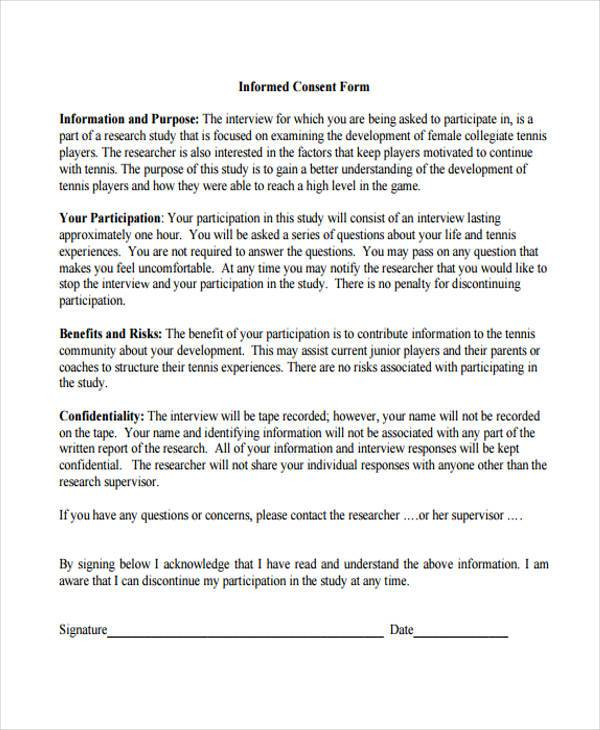 informed consent form example1