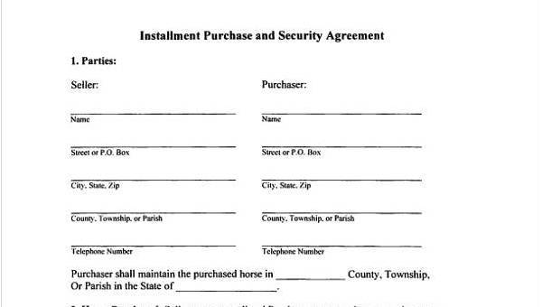 8 Installment Agreement Sample Forms Free Sample Example Format