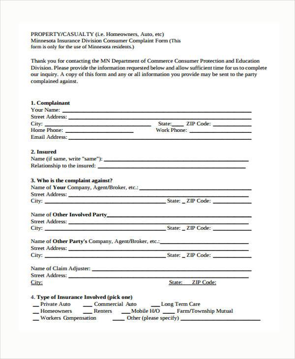 Sample Consumer Complaint Form. Uploaded By, Nasha Razita Customer