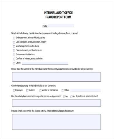 Sample Audit Report Forms - 8+ Free Documents In Word, Pdf