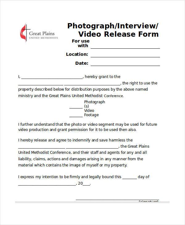 interview video release form1
