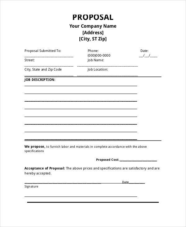 Job-Application-Proposal-Form Plumbing Job Application Form Sample on resume format for, writing email for, quad graphics, letters introduction for, perfect completed,
