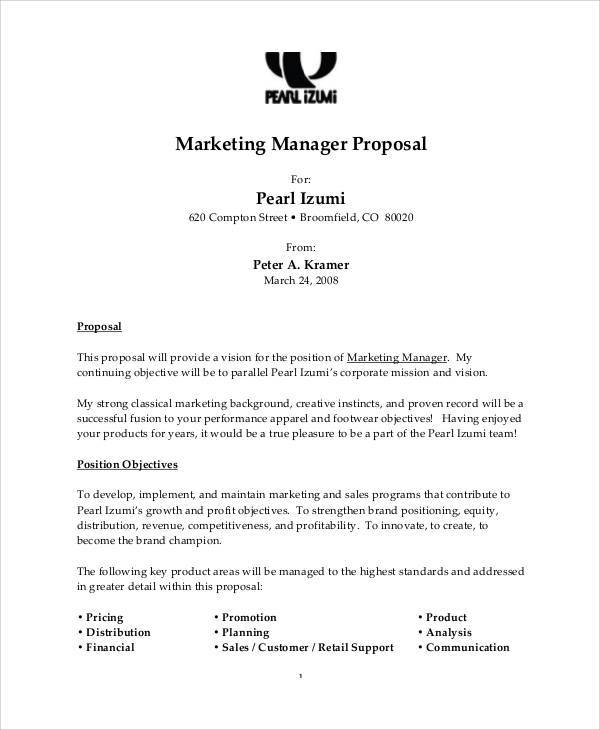 Proposal Letter For Employment
