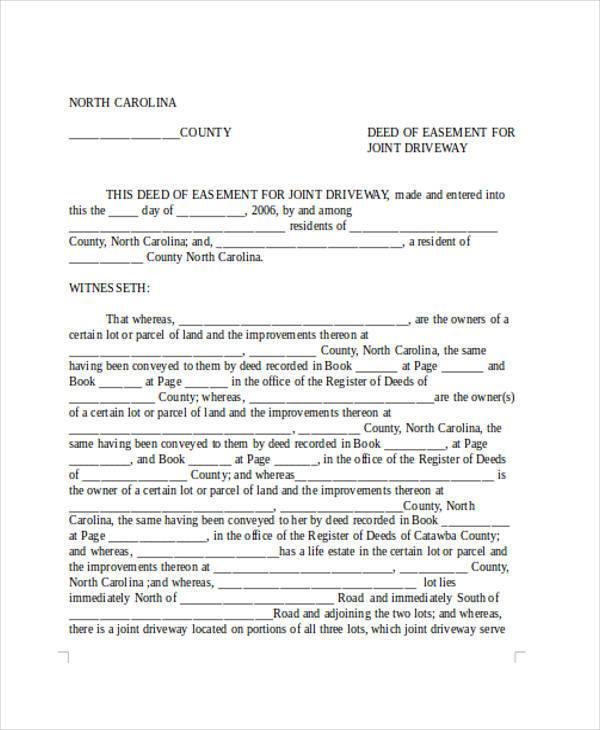 Free 7 Sample Driveway Easement Agreement Forms In Pdf Word