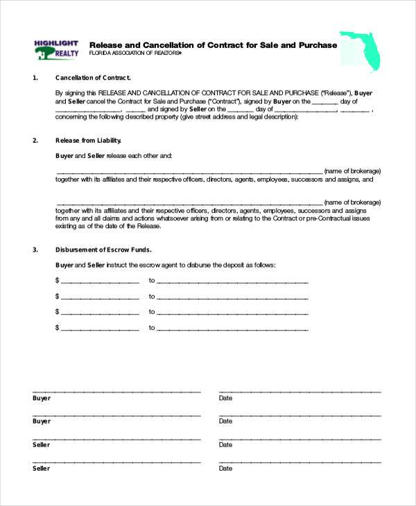 land contract cancellation form1