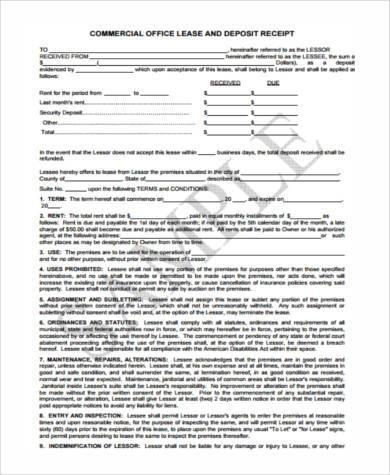 lease deposit form in pdf