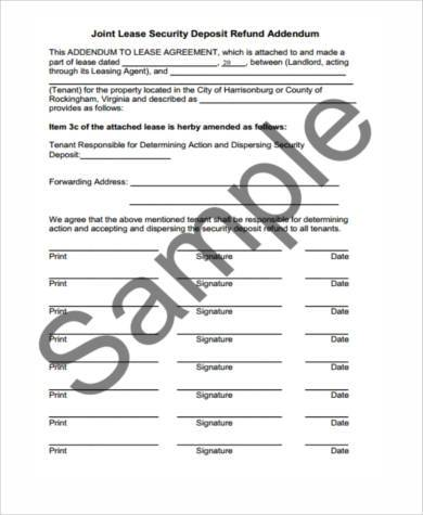 lease deposit refund form