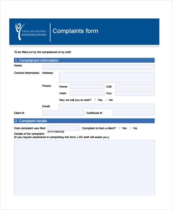 legal aid ontario complaints formp