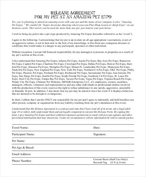 Legal Release Form Samples  Free Sample Example Format Download