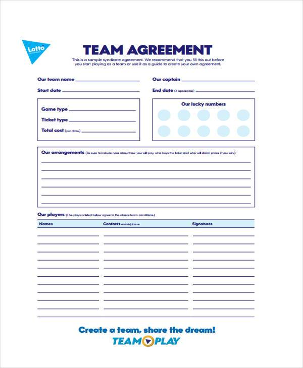 lottery syndicate agreement template word - lottery contract template 28 images office lottery