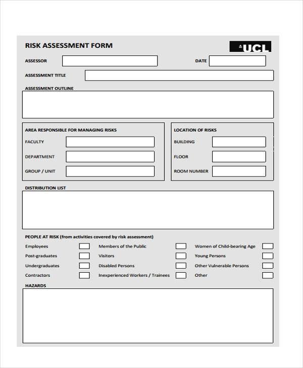 management risk assessment form in pdf