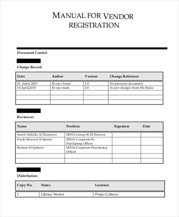 Vendor Registration Form Samples  Free Sample Example Format