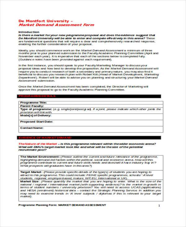 marketing brand assessment form