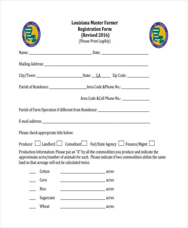 master farmer registration form