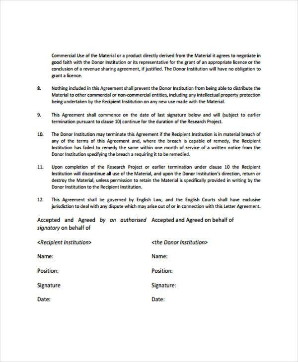 Transfer Agreement Form Samples  Free Sample Example Format