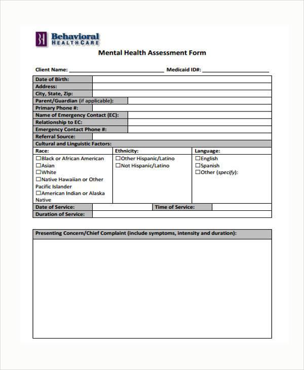 medical health assessment form1