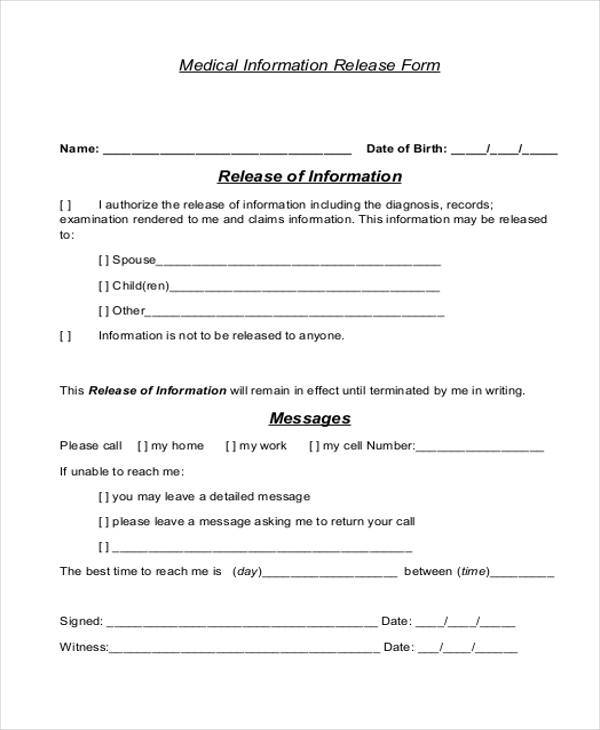 medical information release form1