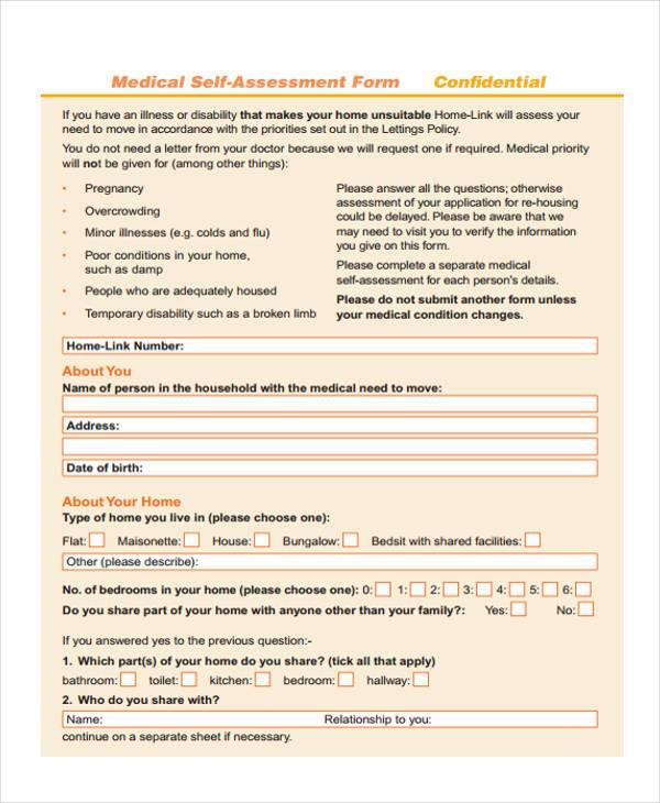 medical self assessment form1