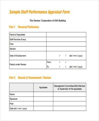 medical staff performance appraisal form1