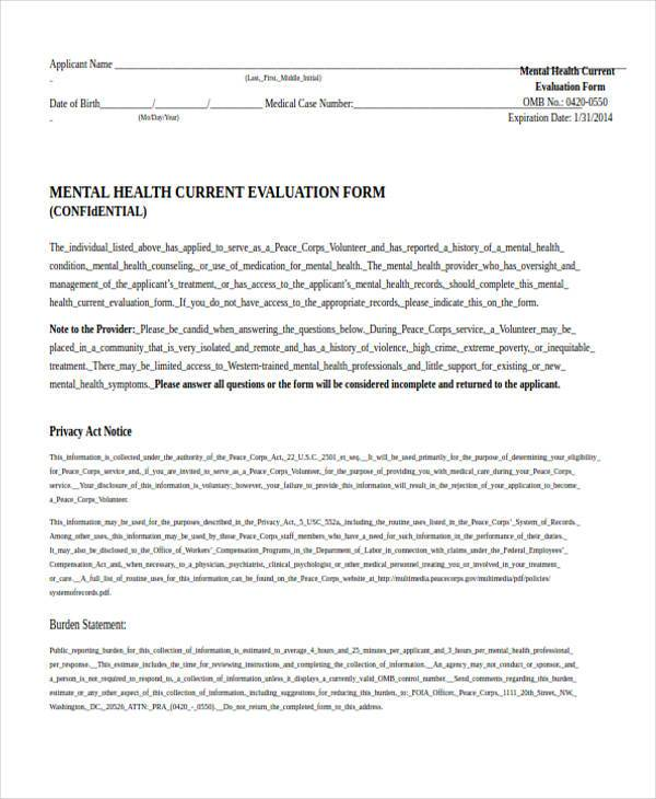 mental health evaluation form3