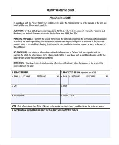 military counseling statement form