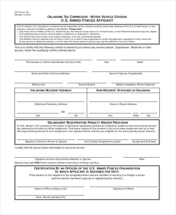 Oklahoma vehicle title transfer vehicle ideas for Non ownership of motor vehicle affidavit