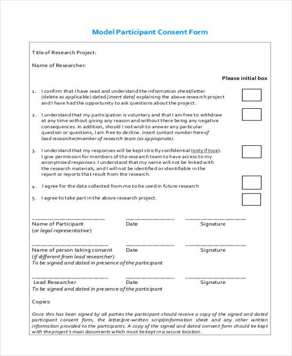 model participant consent form1