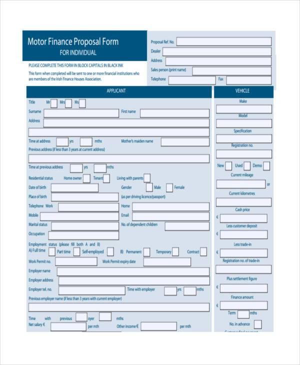 motor finance proposal form2