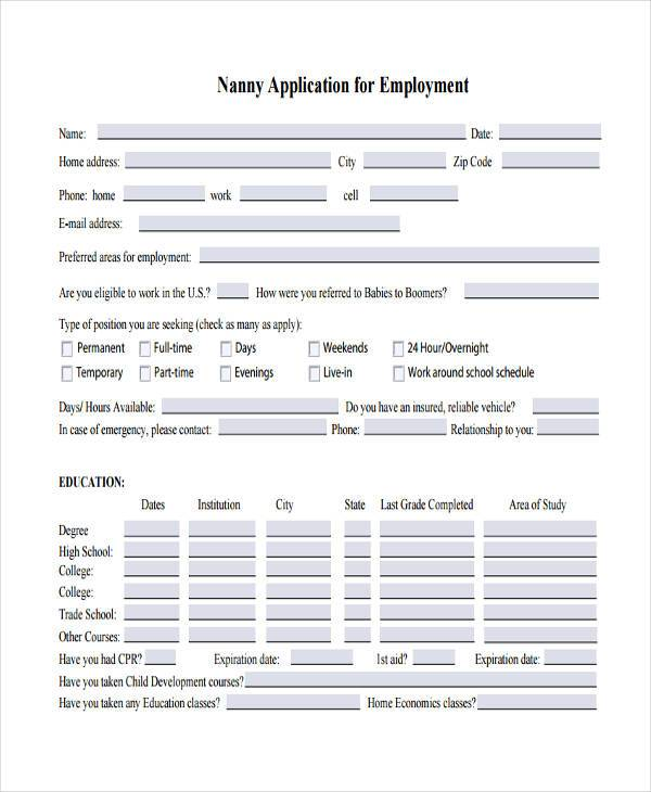 Free Employment Form Samples 35 Free Documents In Word Pdf
