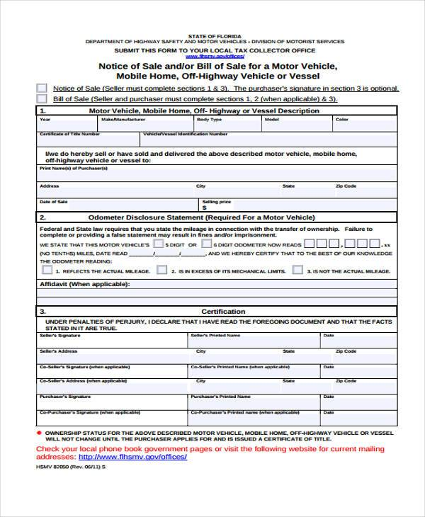 Colorado Vehicle Bill Of Sale: 7+ Free Documents In Word, PDF