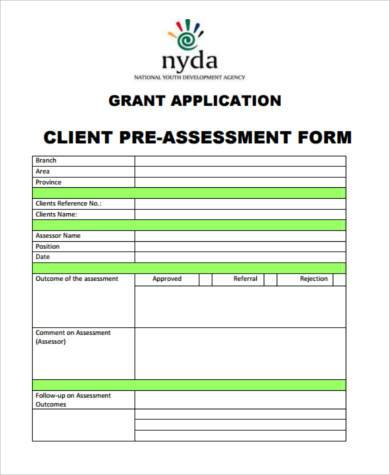 new client marketing assessment form