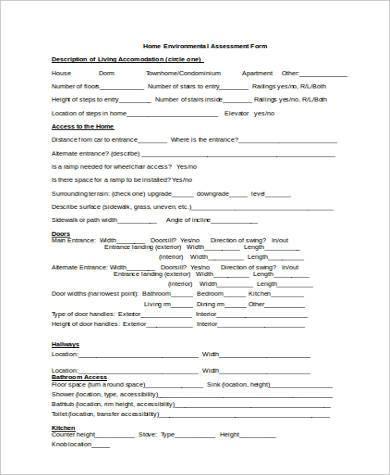 new environmental assessment form