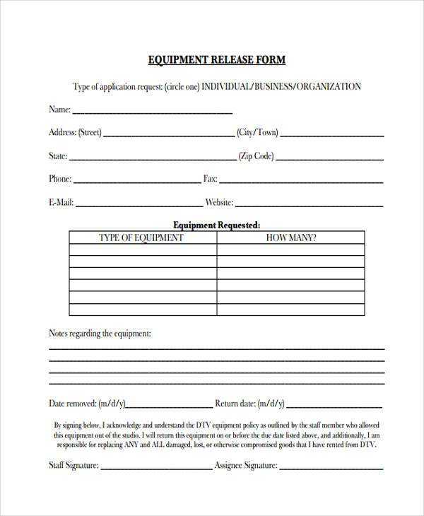 Sample Release Form